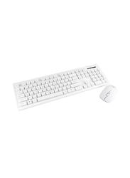 Genuine GN-KM232W Wireless English/Arabic Keyboard & Mouse, White