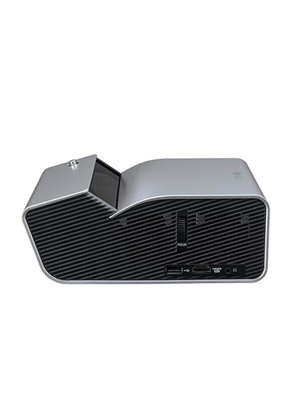LG PH450UG HD DLP 3D Portable Projector, 450 Lumens, Ultra Short Throw, Wireless Screen Share/Bluetooth, Silver