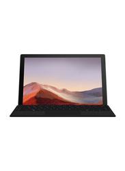 Microsoft Surface Pro 7 Tablet PC, 12.3 inch Touch, Intel Quad Core i7-1065G7 10th Gen 1.3GHz, 256GB SSD, 16GB RAM, Intel Iris Plus Graphics, EN-AR KB, Win 10 Pro, PVT-00020, Black