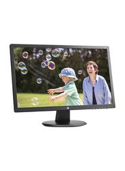 HP 24 Inch Full HD LED Monitor, with VGA/DVI/HDMI Port, 24UH, K5A38AA, Black