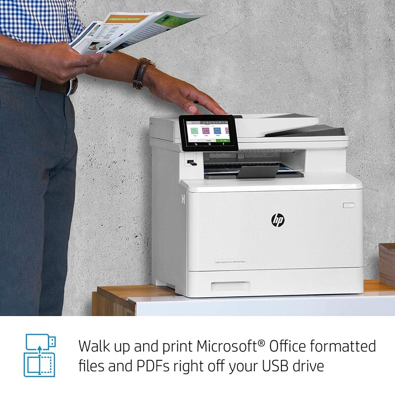 HP Color LaserJet Pro MFP M479FDN W1A79A All-in-One Printer, White