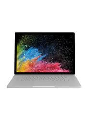 Microsoft Surface Book2, 15 inch, Intel Core i7, 512GB SSD, 16GB RAM, 6GB GTX 1060 Graphics Card, EN Keyboard, Win 10 Pro, FVG-00014, Silver
