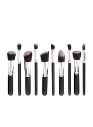 Professional 10 Pieces Synthetic Makeup Brushes Set, Black