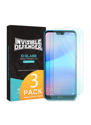 Rearth Ringke Huawei P20 Lite/Nova 3e Invisible Defender Mobile Phone Screen Guard Pack of 3 Set, Clear