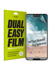 Rearth Ringke Google Pixel 3 XL Screen Protector, with Dual Easy Film Anti-Smudge Coating Mobile Phone Screen Guard Pack of 2 Set, Clear