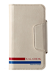 Kalaideng Versal Series Wallet Leather 4.2inch Case for Smartphone, Beige