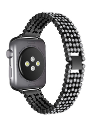 Ozone Apple Watch Series 1/2/3 Strap Rhinestone Diamond Stainless Steel Replacement Band, Black