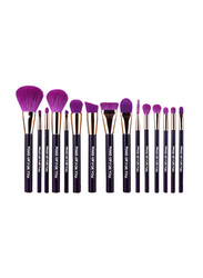 Makeup For You 15 Pieces Synthetic Makeup Brushes Set, Black