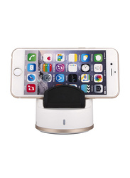 A-Ding Smart Bluetooth Selfie Robot Dock, with 360 Degree, White