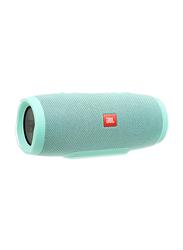 JBL Charge 3 Waterproof Portable Bluetooth Speaker, Cyan