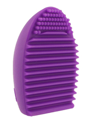 Makeup for You Silicon Egg Brush Cleaning Tool, Dark Purple