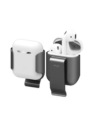 Elago Belt Clip Holster Detachable Shockproof Protective Shell Cover for Apple Airpods, Grey