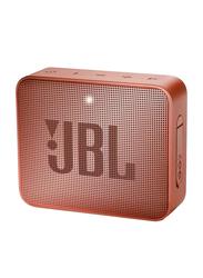 JBL GO 2 Waterproof Portable Bluetooth Speaker, Cinnamon