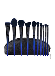Makeup For You 10 Pieces Makeup Brushes Set, Blue