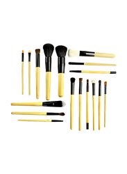 Makeup For You 18 Pieces Professional Synthetic Makeup Brushes Set, Brown