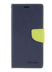 Mercury Goospery Huawei P20 Pro Fancy Leather Wallet Mobile Phone Flip Case Cover, Dark Blue