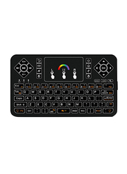 Basics Q9 Remote Control Wireless Bluetooth Backlight Touchpad English Keyboard, Black