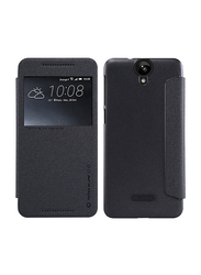 Nillkin HTC One A9 Slim Flip Leather Mobile Phone Case Cover, Black