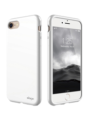 Elago iPhone 8/7 Anti Smudge Shock Absorbing Cushion Mobile Phone Back Case Cover, White