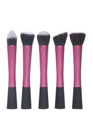 5 Pieces Synthetic Kabuki Makeup Brushes Set, Pink