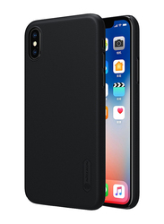 Nillkin Apple iPhone X Frosted Shield Hard Mobile Phone Back Case Cover, Black