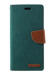 Mercury Goospery Huawei P20 Pro Canvas Diary Leather Wallet Mobile Phone Flip Case Cover, Green