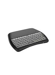 Basics D8-S Wireless Touchpad Mini Backlight English Keyboard, Black