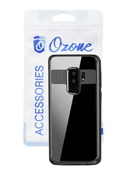 Ozone Galaxy S9+ True Auto Focus Mobile Phone Back Case Cover, with Curved Tempered Glass Protector, Black