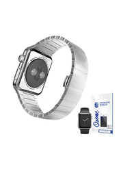 Stainless Steel Apple iWatch 42mm Band Strap, with Screen Protector, Silver