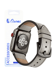 Ozone Leather Apple Watch 40mm/38mm Series 4/Series 3/2 Replacement Strap, Grey