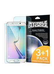 Rearth Ringke Samsung Galaxy S6 Edge Invisible Defender HD Clarity Mobile Phone Screen Guard Pack of 4 Set, Clear
