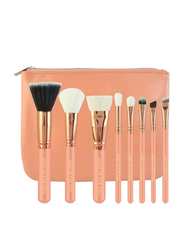 Makeup For You Professional 8 Pieces Makeup Brushes Set with Zipper Pouch, Rose Gold