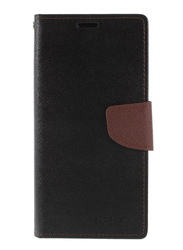 Mercury Goospery Huawei P20 Pro Fancy Leather Wallet Mobile Phone Flip Case Cover, Black/ Brown