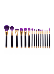 Professional 15 Pieces Makeup Brushes Set, Black