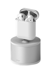 Elago AirPods/iPhone/Magic Mouse Aluminum Scratch Free D Stand Charging Station, White