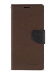Mercury Goospery Huawei P20 Pro Fancy Leather Wallet Mobile Phone Flip Case Cover, Brown