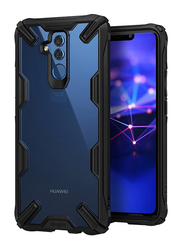 Ringke Huawei Mate 20 Lite Fusion-X Transparent Shock Absorption TPU Bumper Mobile Phone Back Case Cover, Black