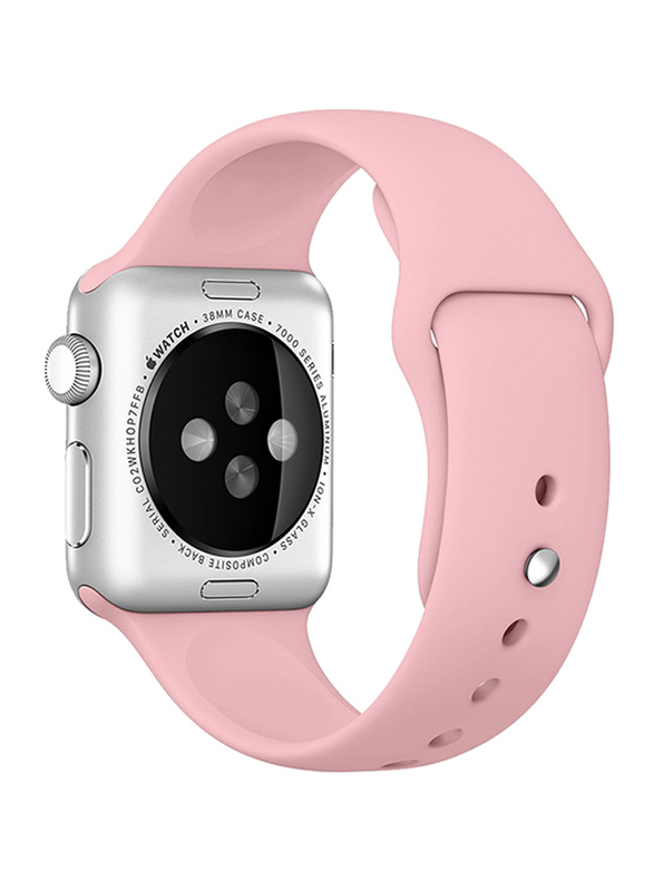 Ozone Apple Watch 44mm Series 4/42mm Series 3/2/1 Silicone Strap, Adjustable Sports Band, Pink