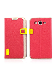 HelloDeere Samsung Galaxy Mega 5.8 I9150 I9152 Ice Crystal Series Leather Flip Mobile Phone Case Cover Wallet, Red