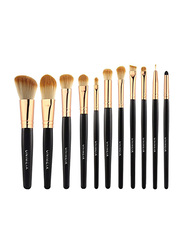 Professional 11 Pieces Unimeix Synthetic Makeup Brushes Set, Gold