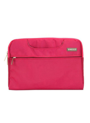 Basics Universal  13-inch Carry Sleeve Laptop Bag, Velvet for MacBook Pro 13 and Laptops upto 13-inch, Pink