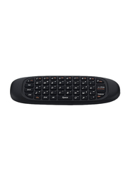 Microware C-120 Air Mouse, Remote Control 2.4 GHz Wireless Gyroscope English Keyboard, Black