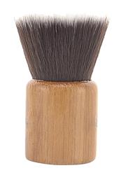 Short Bamboo Flat Top Foundation Makeup Brush, Brown