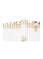 Professional 20 Pieces Makeup Brushes Set, White