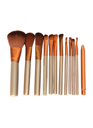 Professional 12 Pieces Makeup Brushes Set, Gold