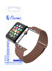 Ozone Apple Watch 40mm Series 4/38mm Series 3/2/1 Magnetic Leather Strap, Brown