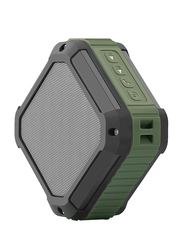 CRDC S100C Square 20-pin Button Portable Wireless Waterproof Bluetooth Speaker, Green
