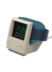 Elago W4 Stand Vintage 1998 Design Supports Nightstand Mode for Apple Watch Series, Blue