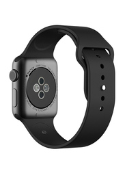 Silicone Sport Apple Watch 38mm Replacement Wrist Band Strap, Black
