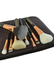 Makeup For You Professional 8 Pieces Makeup Brushes Set with Zipper Pouch, Brown